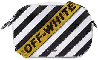 Off-White Off White Diagonal Stripes Leather Camera Bag