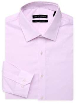 Saks Fifth Avenue Herringbone Dress Shirt