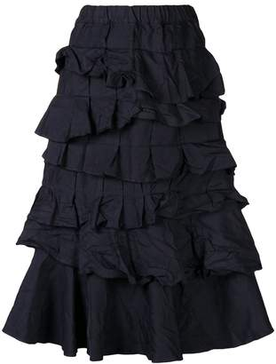 Comme des Garcons tiered ruffle skirt