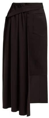 Palmer Harding Palmer//Harding Palmer//harding - Thrill Asymmetric Twill Skirt - Womens - Black