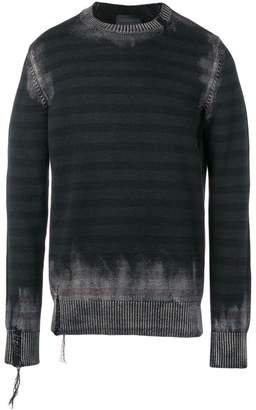 Diesel Black Gold over-dyed frayed jumper