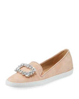 Sesto Meucci Fan Suede Ornament Sneaker, Peach