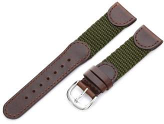 Victorinox Hadley-Roma Men's MSM866RAB200 20-mm and Olive 'Swiss-Army' Style Nylon and Leather Watch Strap