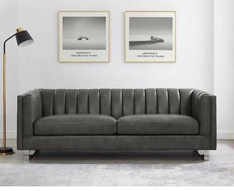 Orren Ellis Walbourne Leather Sofa Orren Ellis