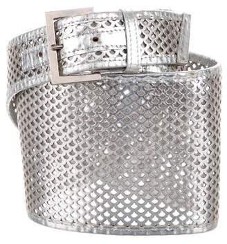 Fendi Perforated Waist Belt