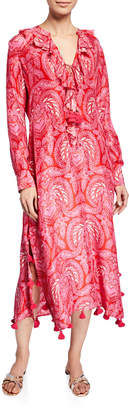 Figue Cerelina Paisley Print Long-Sleeve Dress