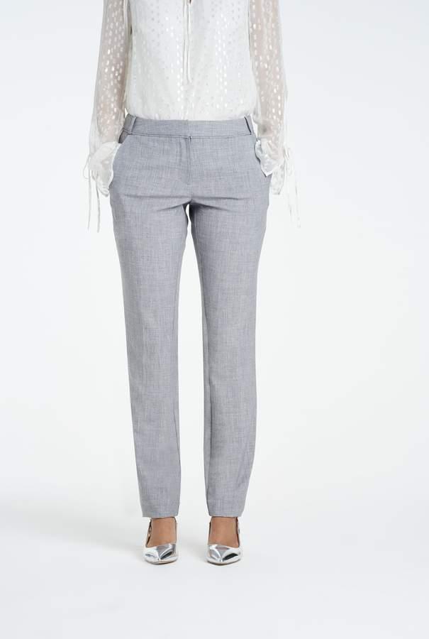 Long Tall Sally Cross Dye Slim Suit Trouser