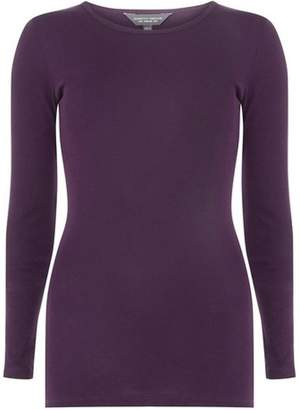 Dorothy Perkins Womens **Tall Burgundy Long Sleeve Top