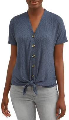Como Blu Women's Button Front T-Shirt