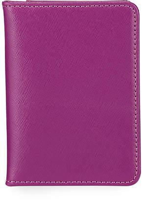 Neiman Marcus Saffiano Leather Mirror Bi-Fold Wallet