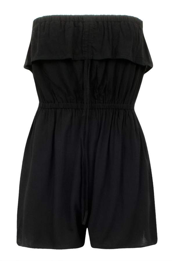 Hs Strapless Frill Playsuit