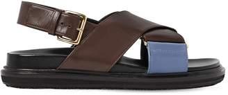 Marni 30mm Crisscross Leather Sandals