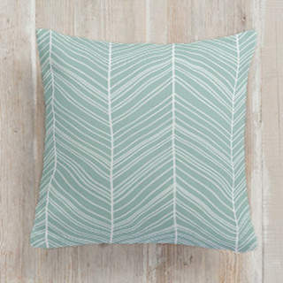 Irregular Herringbone Square Pillow