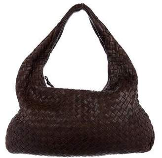 Bottega Veneta Leather Intrecciato Hobo