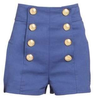 Balmain High-Rise Buttoned Shorts