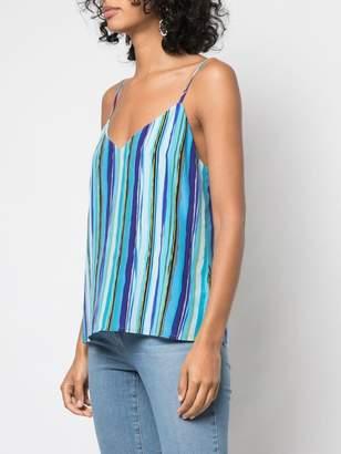 L'Agence striped print top