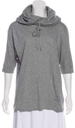 AllSaints Hooded Three-Quarter Sleeve T-Shirt