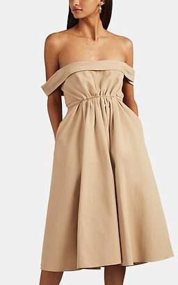Brock Collection Women's Cotton Faille A-Line Belted Dress - Beige, Tan