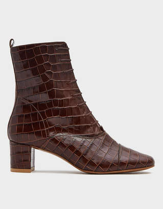 BY FAR Lada Nutella Croc Boot