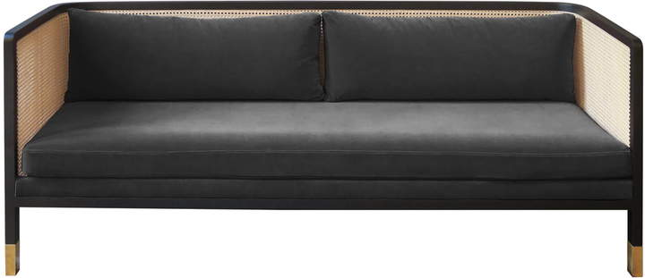 red edition - Wicker Sofa Velvet 210, chic gray (T25)