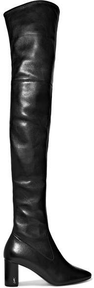 Saint Laurent - Loulou Leather Over-the-knee Boots - Black