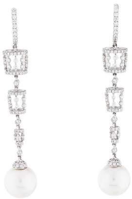 Tara Pearls 18K Pearl & Diamond Drop Earrings