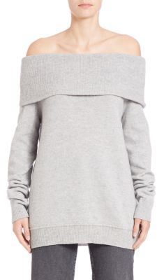 T by Alexander Wang Solid Off-The-Shoulder Top