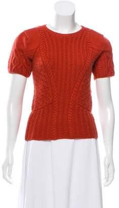 Oscar de la Renta Cashmere Cable Knit Sweater