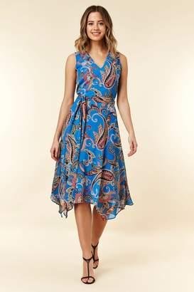 Wallis Womens Cobalt Paisley Dress - Blue