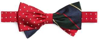 Brooks Brothers Argyle Sutherland And Dots Pre-Tied Bow Tie