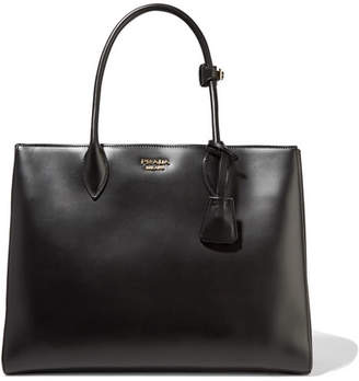 Prada Bibliothèque Large Leather Tote - Black