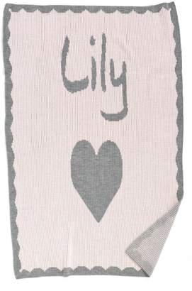 Butterscotch Blankees 'Heart' Personalized Crib Blanket