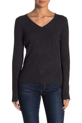 In Cashmere V-Neck Long Sleeve Cashmere Sweater