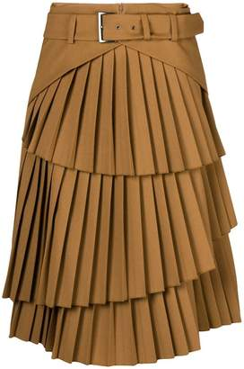 Alberta Ferretti pleated tiered skirt