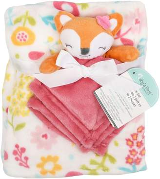Baby's First By Nemcor Two-Piece Fox Faux Fur Blanket Security Blanket Set