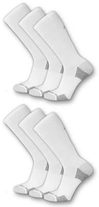 New Balance Womens 6 Pair Crew Socks- Extended Sizes