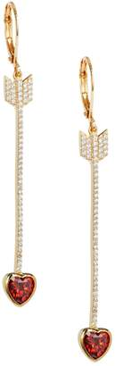 Kate Spade Romantic Rock Crystal Arrows Heart Earrings