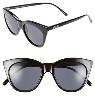 Women's Le Specs Halfmoon Magic 51Mm Cat Eye Sunglasses - Black $59 thestylecure.com