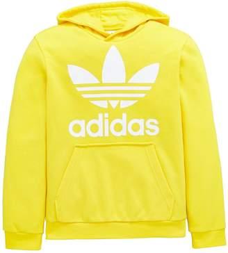 adidas adicolor Childrens Trefoil OTH Hoodie - Yellow