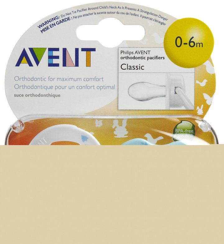 Avent Naturally Fashion Infant Pacifier - 0-6 Mo - 2 Pk