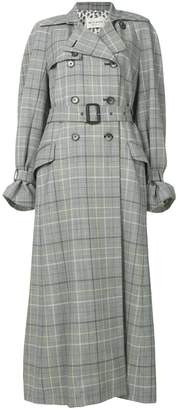 Etro checked printed coat
