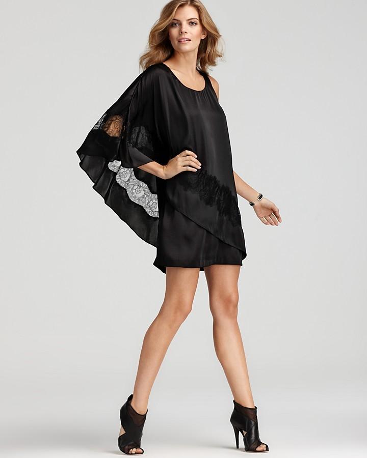 BCBGMAXAZRIA BCBGeneration Dress - Asymmetric Cape