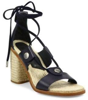 Rag & Bone Eden Leather Lace-Up Block Heel Sandals