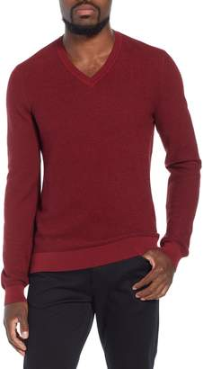 BOSS Emauro Mouline V-Neck Slim Fit Sweater