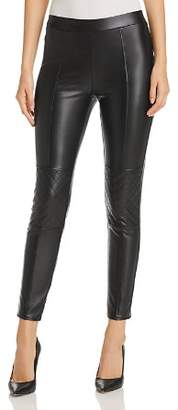 1 STATE 1.STATE Faux Leather Moto Leggings