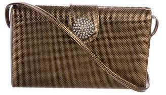 Albert Nipon Metallic Embellished Crossbody Bag