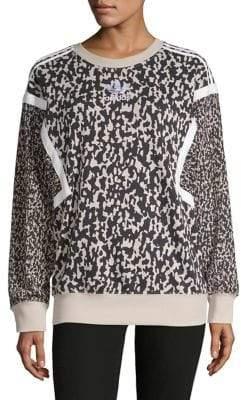 adidas Contrast Logo Printed Sweater