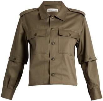 Golden Goose Tina detachable-sleeve cotton-twill shirt