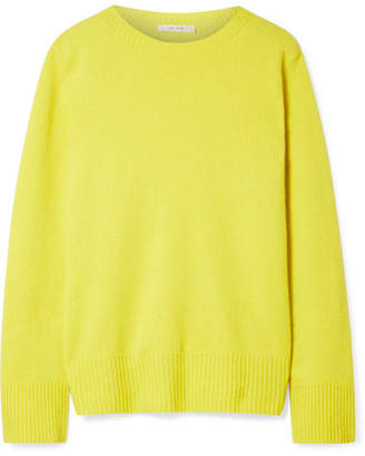 The Row Sibel Oversized Wool And Cashmere-blend Sweater - Bright yellow
