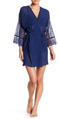 In Bloom by Jonquil Wrapper Lace Trim Robe
